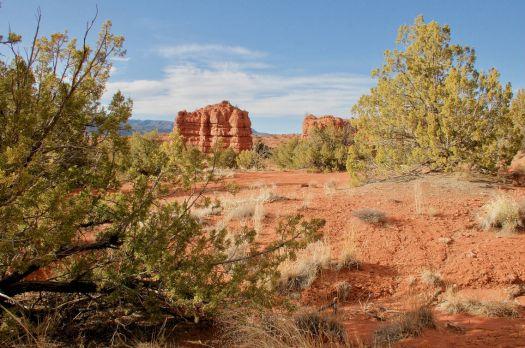 Jemez Springs, NM  Hiking through the red rocks.