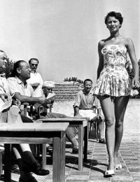 Sophia Loren age 16 competing in the 'Miss Italia' contest, 1950.