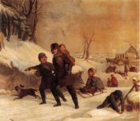 Thompkins H Matteson--Playing in the Snow, 1856