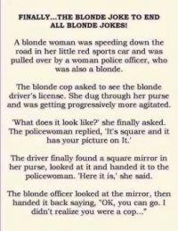 blonde joke