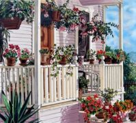 Flowery porch