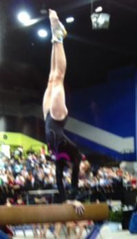 kaylie on the beam