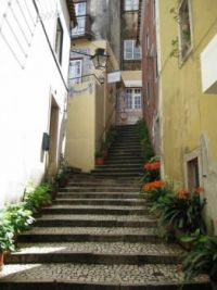 Uphill narrow steps