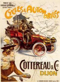1900s Cylces & Automobiles. Cottereau & Cie, Dijon by Francisco Tamagno