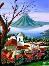 Painting of Atitlan, Guatemala