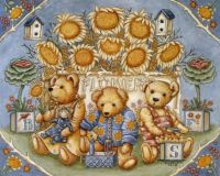 Sunflowers and teddies