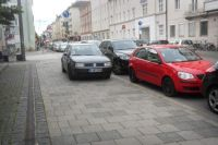 The driver of this car had had enough of looking for a parking spot in Munich