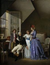Alexandre de Beauharnais with his family in prison, 1794