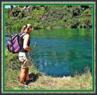 Beside the Waikato River.