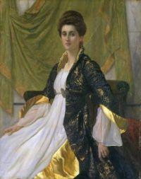 Sir William Blake RichmondPortrait of Mrs Ernest Moon 1888