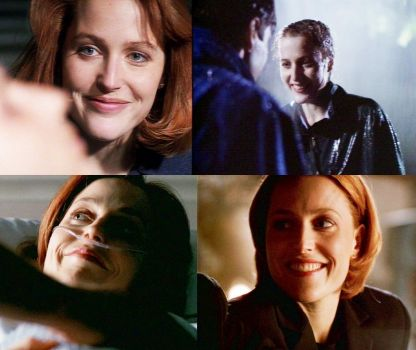 All of the Scully smiles for Mulder :D