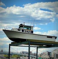 NYPD boats at Randalls Island, NYC