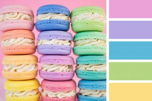 Pastel Rainbow Macaroons