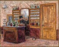 John Leslie Breck (American, 1860–1899),  M. Baudy Behind his Desk at the Hotel Baudy (1888)