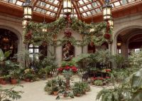 Biltmore's winter garden at Christmas