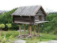 Traditional raised Sami storehouse