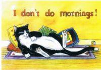 I don't do mornings!