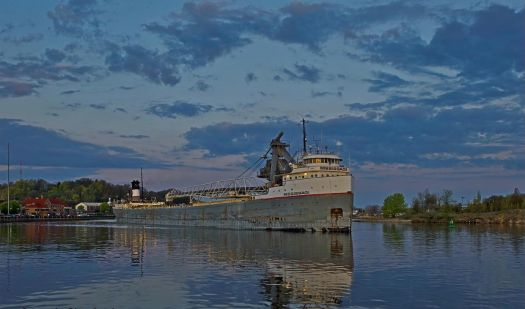 M/V MISSISSAGI enters Grand Haven, Michigan