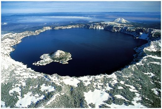 Crater Lake Oregon in Winter