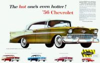 1956 Chevrolet Ad - The Hot One's Even Hotter!