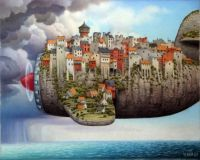 Surreal Painting by Jacek Yerka