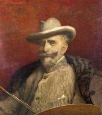 Louis Welden Hawkins (British/French, 1849–1910), Self-Portrait