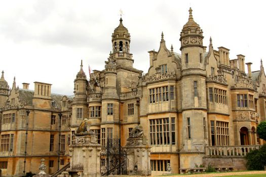 Harlaxton roofscape. Harlaxton Manor, Lincolnshire.  Photo by Richard Croft