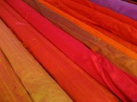 Natural dyed silks, Vienna