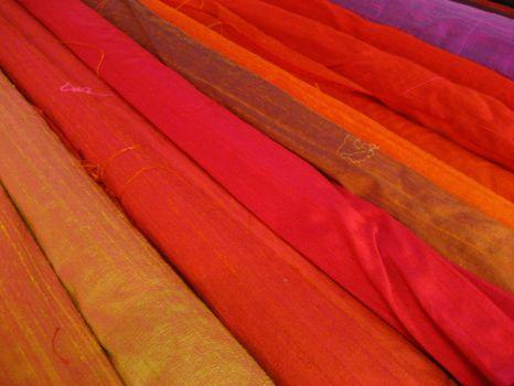 Natural dyed silks, Vienna