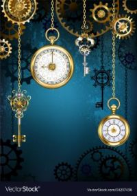 THEME: CLOCKS & TIME PIECES - Steampunk collection