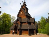 stave church at the folk museum in Oslo