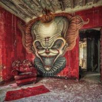 Art in an abandoned building