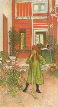 Raking by Carl Larsson