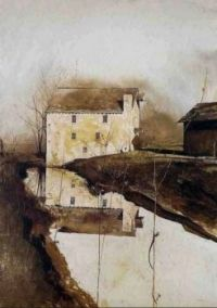"Andrew Wyeth, ""Flour Mill"", 1959"