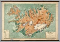 Map of Iceland 1928