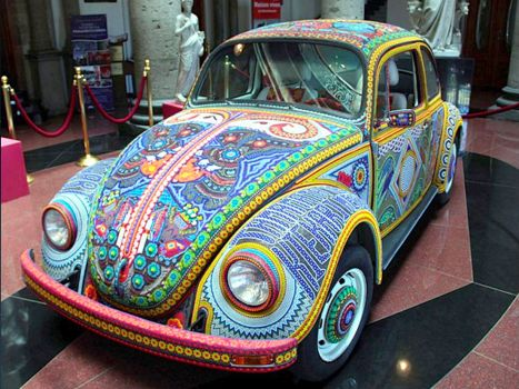Huichol art vw!!!(spunky & the bandit).