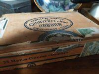 Old Cuban cigar box