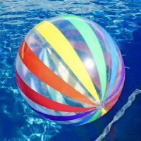Beach ball in the water...