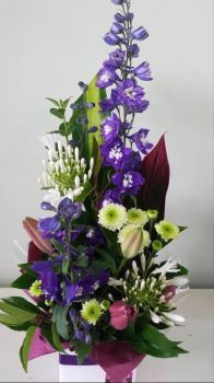 Happiness is....Stately Tall Floral Arrangement.