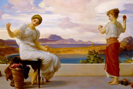Frederic Leighton - Winding the Skein