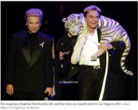 Roy Horn (right), of Siegfried & Roy, died May 8, 2020.