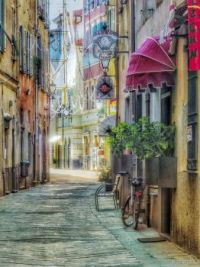 Via Boragine, Loano, Liguria, Northern Italy