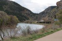 The Colorado River Flows Through Glenwood Canyon Between Gypsum & Glenwood Springs, Colorado