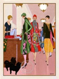 N.C. art deco fashion prints