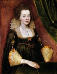 ca. 1620 Portrait of a Young Lady by Paul Van Somer