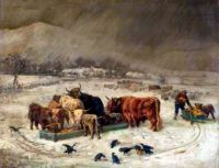 December near Callander by Joseph Donovan Adam (1841-96)