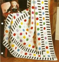 Dots and Stripes Crocheted Afghan
