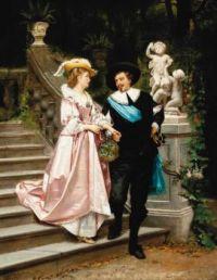 Hendrik Jacobus Scholten (Dutch, 1824–1907), A Morning Walk