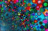Circles on light blue