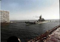 USS Iowa BB-61 Arriving Port Everglades Inlet 1988